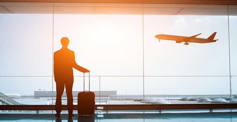 businessman traveling during pandemic