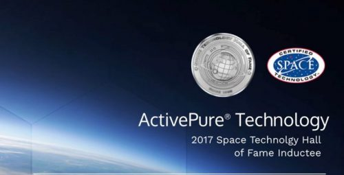 activepure technology 2017 space technology hall of fame inductee logo