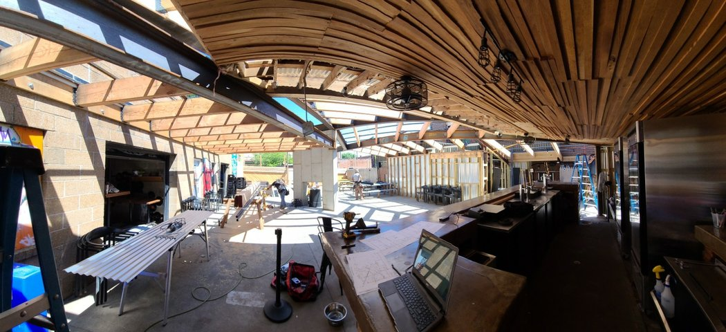 outdoor space under construction